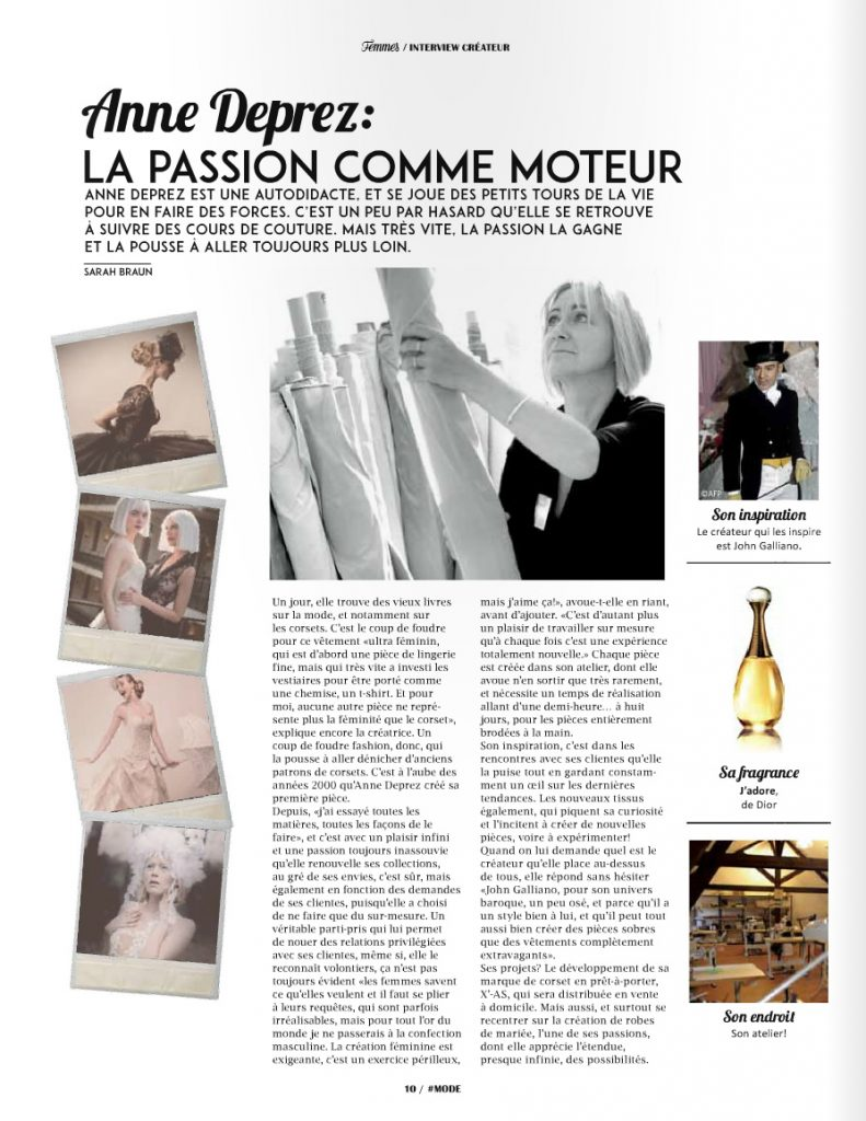 Femme Magazine - Interview Créatrice digaméSi - X'-AS